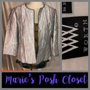 Silver Metallic Blazer by Worth
